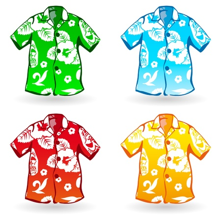 Hawaiian Aloha Shirts   Stock Vector - 13614420