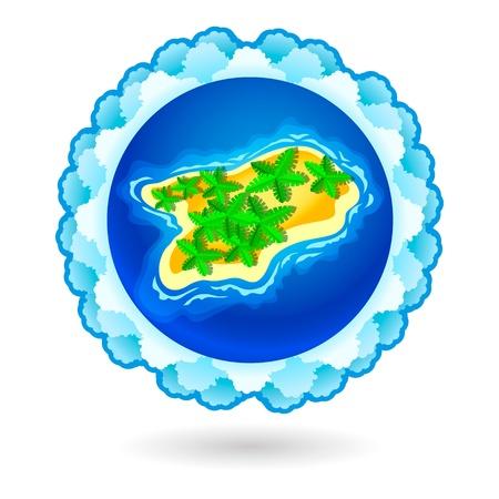 Tropical island Stock Vector - 13654389