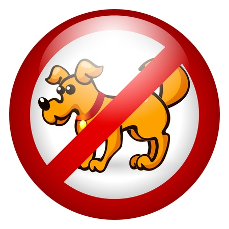 No dogs allowed Vector