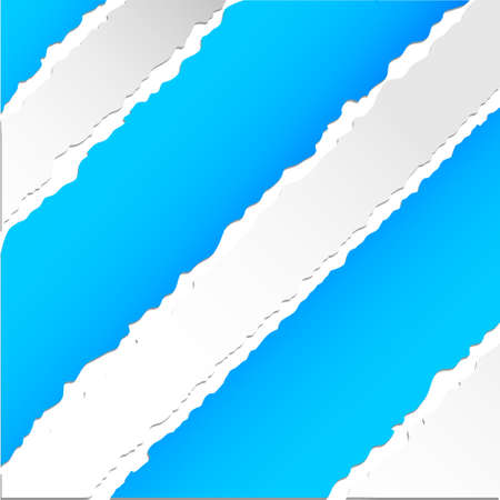 Teared blue pattern paper Stock Vector - 13696425