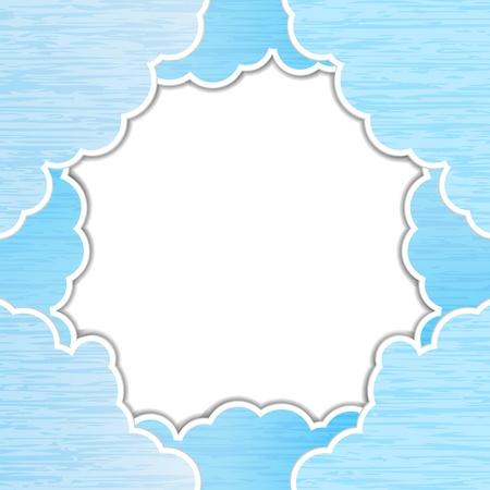 teared: Blue teared paper sky