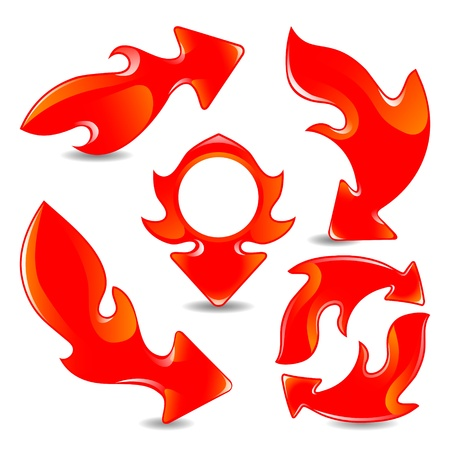 momentum: Red flame arrows