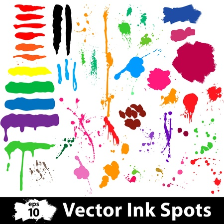 Tinta y el pincel Ilustraci�n vectorial puntos Vectores