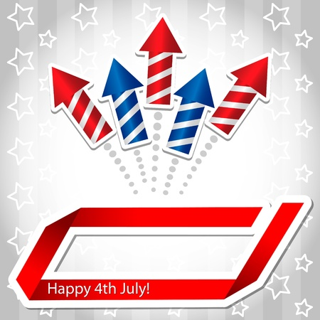 4th july Rocket Background Vector