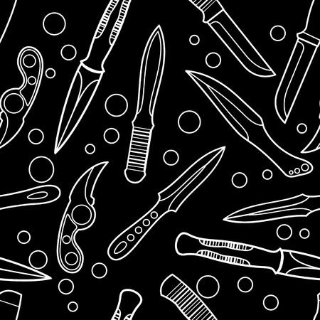Knife seamless background