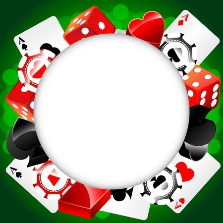 ルーレットのカジノの背景