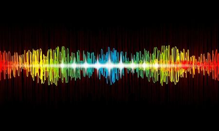 Arco iris de forma de onda del ecualizador Vectores
