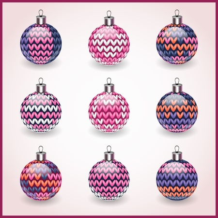 Set of Christmas balls for design use Icons Vector