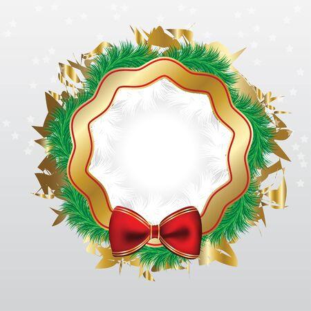 Pino de Navidad guirnalda con arco y banda