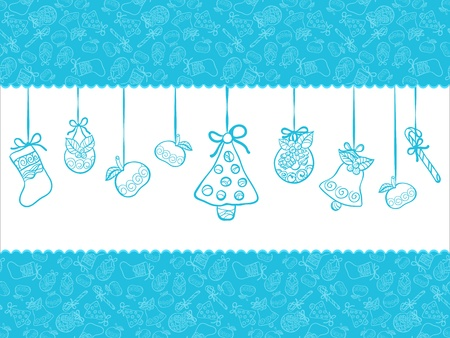 claret: Christmas blue background