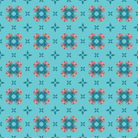 Seamless wallpaper pattern with flowers Stock Vector - 16290132