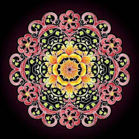 Round lace mandala pattern Stock Vector - 16430241