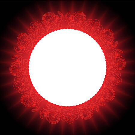 Red abstract mandala background Vector