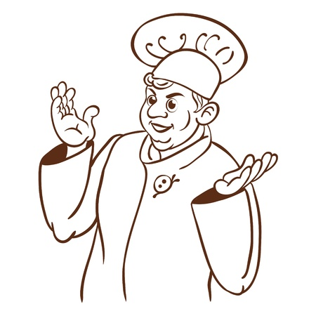 Chef cook  Cartoon hand drawing character Stock Vector - 16536691
