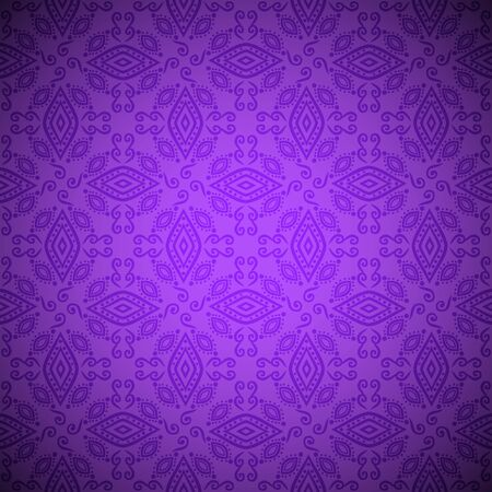 Seamless indian pattern in violet colore Stock Vector - 16580114