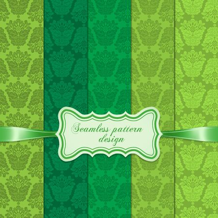 Set of seamless floral pattern Stock Vector - 16580122