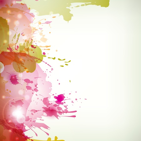 Abstract artistic Background with blots