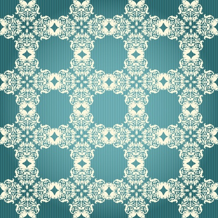 Green and beige damask seamless floral pattern Stock Vector - 16613581