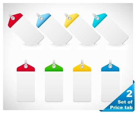 Set of color price tags Stock Vector - 16613572