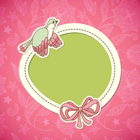 Cute frame design with bird  Vintage Stock Vector - 16808613