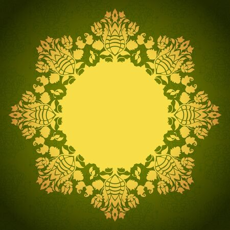 Round floral ornamental frame Stock Vector - 16808674