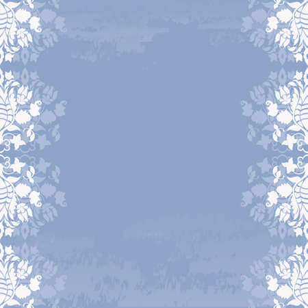 Abstract blue floral background Stock Vector - 16808680