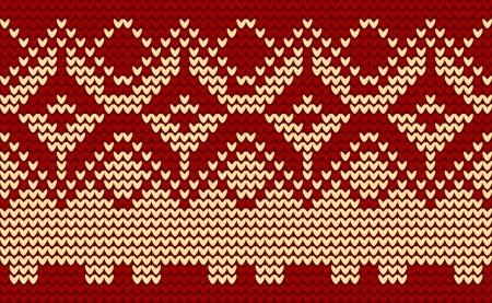 knitted background: Navidad roja punto de fondo