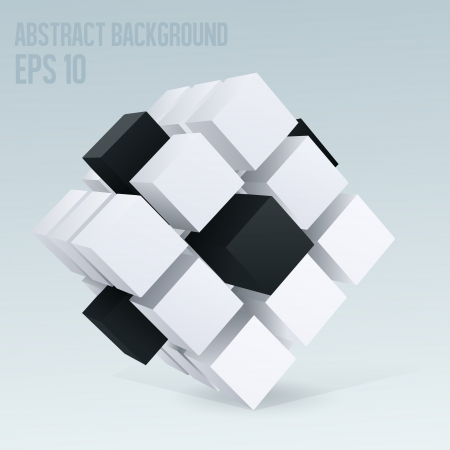 3D cube abstract background Stock Vector - 16857460