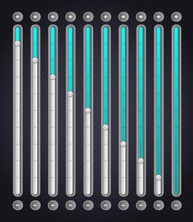 Blue volume bar   Web Elements Vector