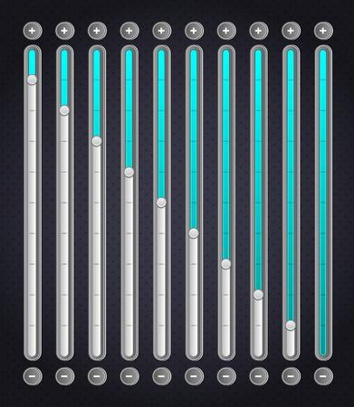 scroller: Blue volume bar   Web Elements
