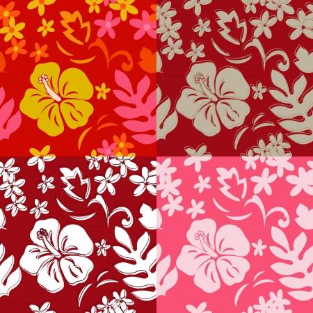 hula: Seamless Pattern Hula de Hawai Vectores