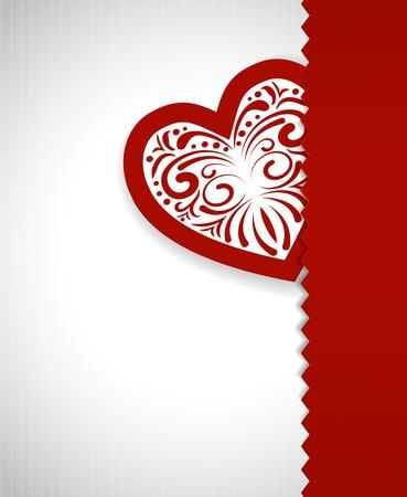 Coraz�n de la tarjeta de papel D�a de San Valent�n