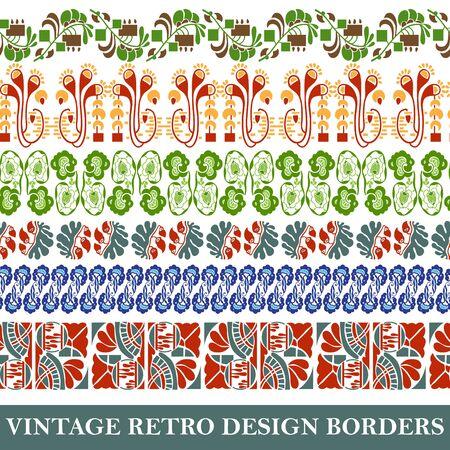 Vintage border set for design Stock Vector - 17610599