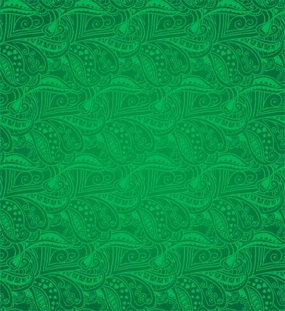 Valentine seamless hearts pattern  Green Stock Vector - 17610606