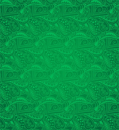 Valentine seamless hearts pattern  Green Stock Vector - 17610606