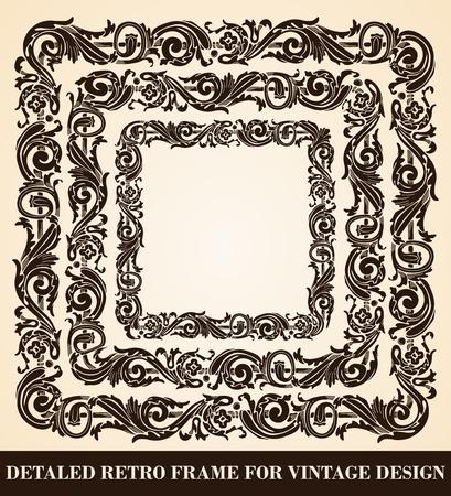 antique frames: Set of antique frames
