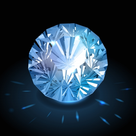Realistic diamond Stock Vector - 17715708