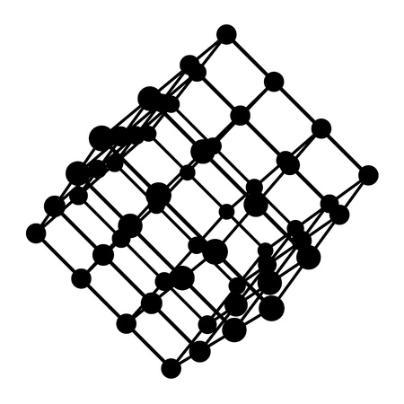 Black cube 3D Stock Vector - 17715689
