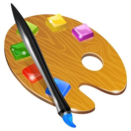 proficiency: Digital Art palette with paint brush  and keys