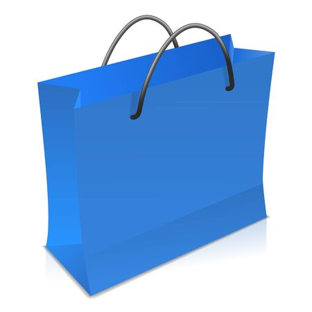 Blue shopping bag Stock Vector - 17965069