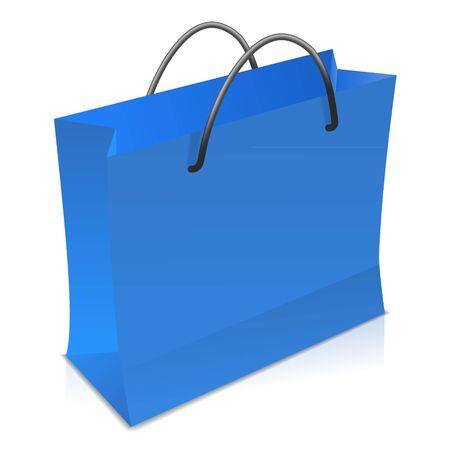 Blue shopping bag Stock Vector - 17965069