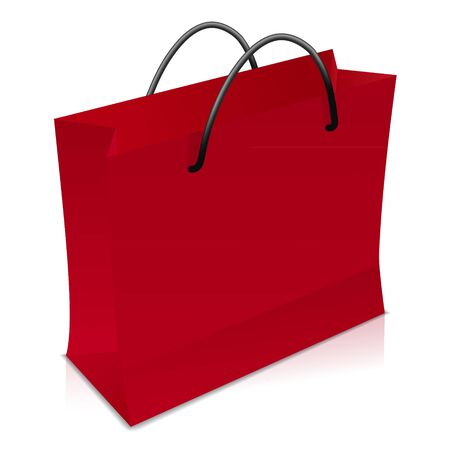 Red shopping bag Stock Vector - 17965071