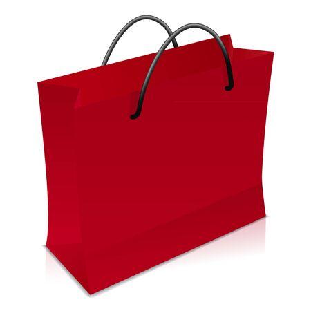 Red shopping bag Stock Vector - 17965071