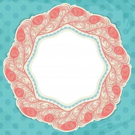 Polka dot design, vintage styled background  Stock Vector - 18009064