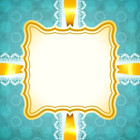 Blue vintage frame Stock Vector - 18067972
