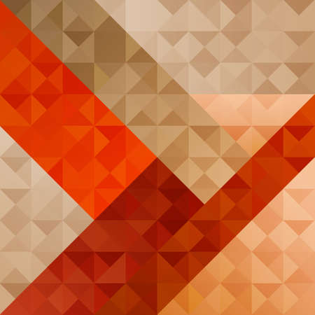 Geometric Orange Abstract  Pattern Stock Vector - 18159594