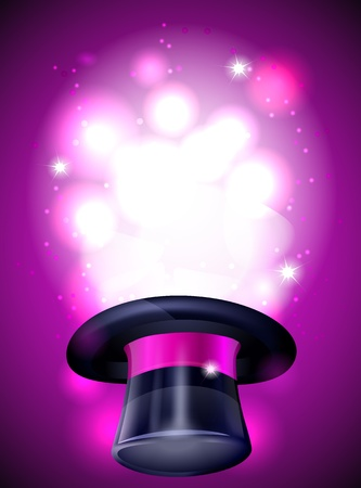 pink hat: Magic background Illustration