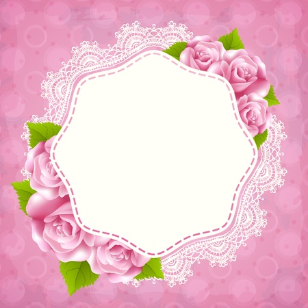 Vintage greeting card template with rose Stock Vector - 18247702