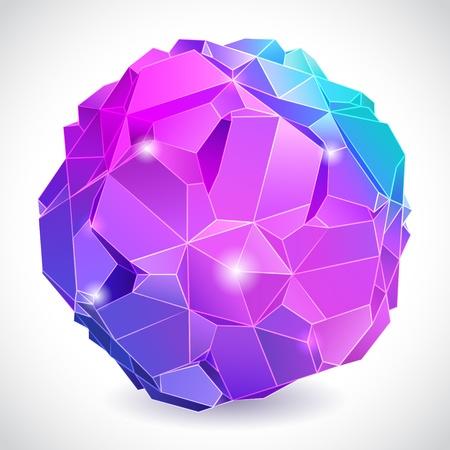rumpled: Rumpled abstract sphere