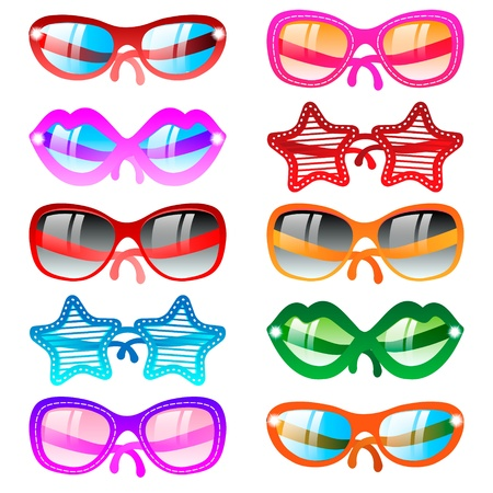 Sunglasses icon set Stock Vector - 18516231